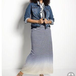 Lane Bryant Ombré Stripe Knit Sweater Maxi Skirt